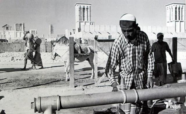 Водоснабжение в Дубаи. 1960-е.