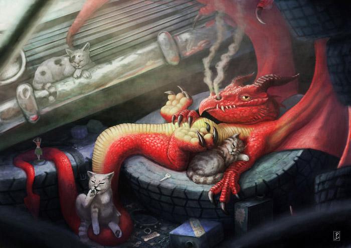 Уютный вечерок с драконом.