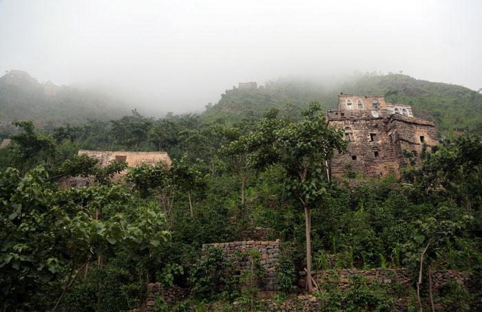 Дома в горах Йемена.  Фото: Abduljabbar Zeyad.