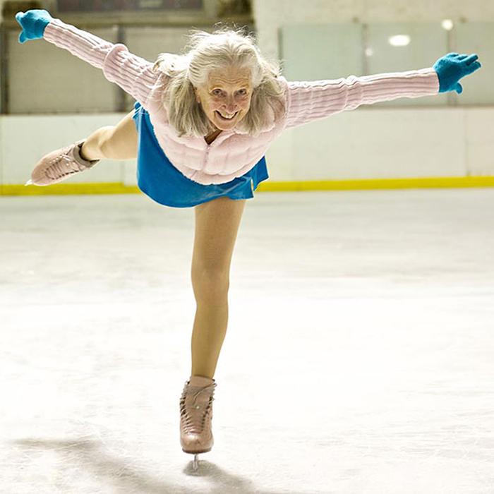 Ивонн Даулен на льду.