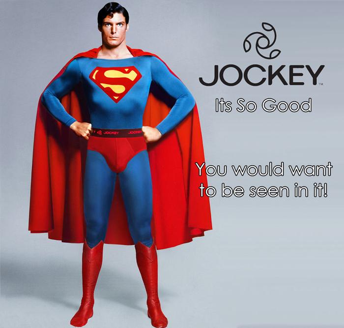 Супермен предпочитает белье Jockey.