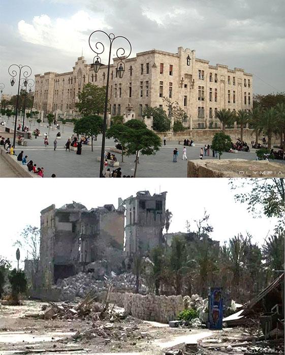 Археологический комплекс перед замком в Алеппо.