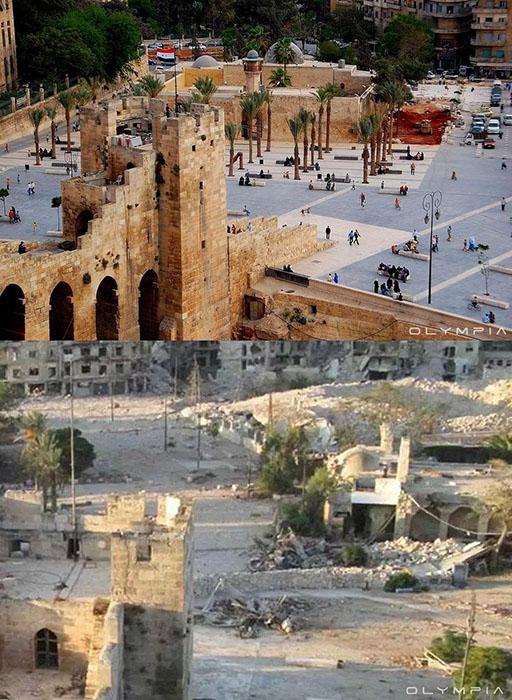 Возле замка в Алеппо.