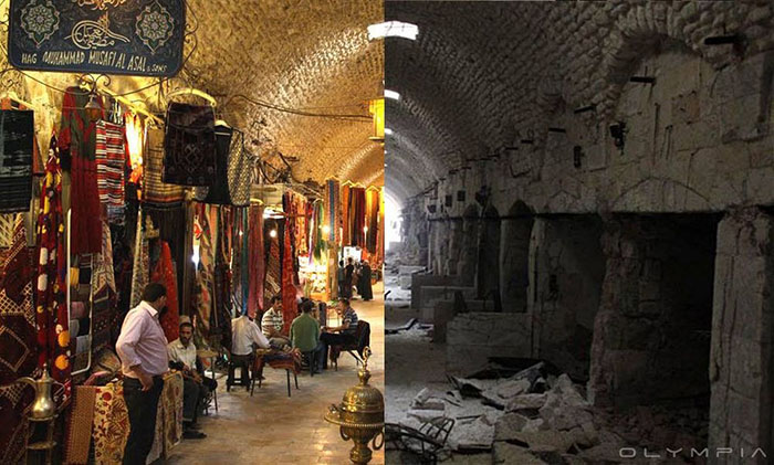 Старый рынок в Алеппо.