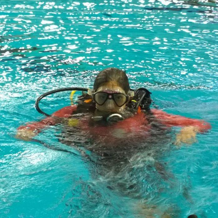 Подводные тренировки.