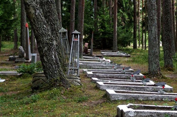 Захоронения, сделанные после Второй Мировой Войны.
