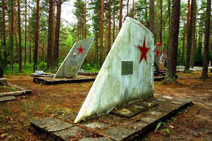 Кладбище советских летчиков на севере Эстонии.