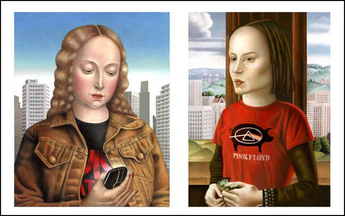 Современное искусство сквозь призму классики. Автор: Amy Hill.