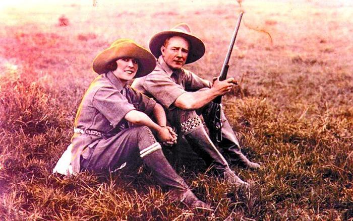 Рой со своей женой Иветт Боруп Эндрюс.
