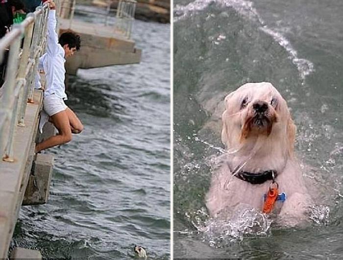 Прохожим оказался 20-летний турист из Германии. На берегу его встречали уже как героя.
