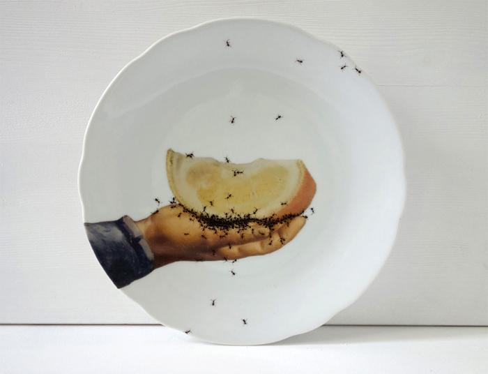 Муравьиный набор посуды Эвелин Браклоу.