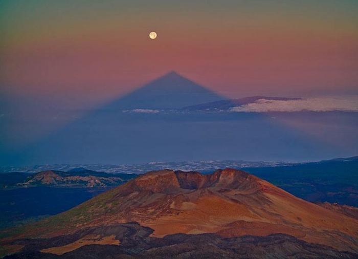 Треугольная тень горы Тейде.