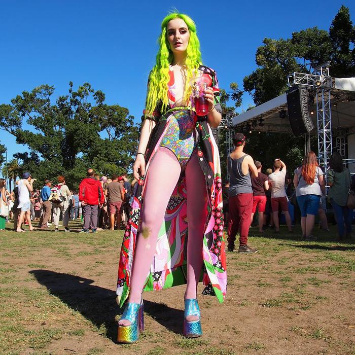 Агата, одна из выступающих на фестивале. Мельбурн, Австралия.