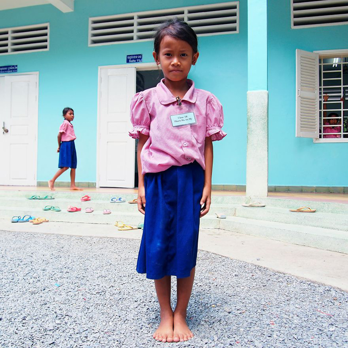 Канита, школьница. Пномпень, Камбоджа.