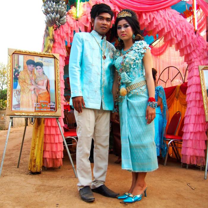 Кевич и Ликена на своей свадьбе. Шелковый остров, Камбоджа.