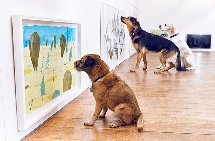 Куриные ножки на картине для собак.