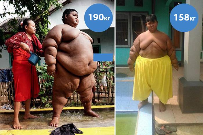Процесс похудения.