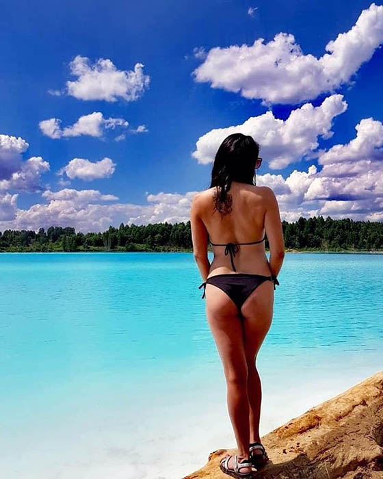 Фотосессии на берегу озера-золоотвала. Instagram maldives_nsk.
