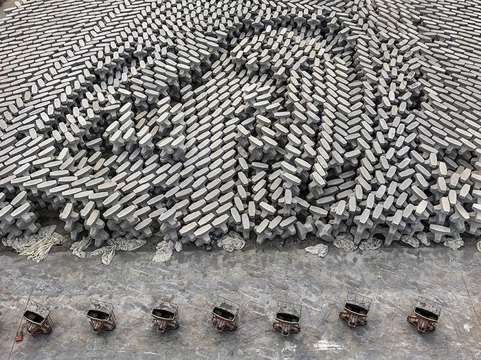 Тетраподы, Донгуин, Китай, 2016 год.