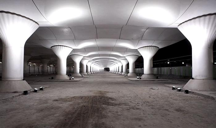 Вокзал Аустерлиц и световая инсталляция Kinematope.
