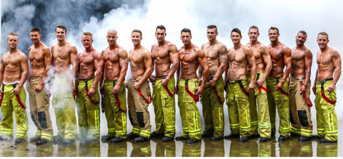 Общее фото австралийских пожарных.