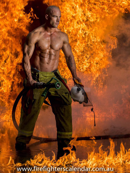 Фотографии австралийских пожарных для благотворительности.