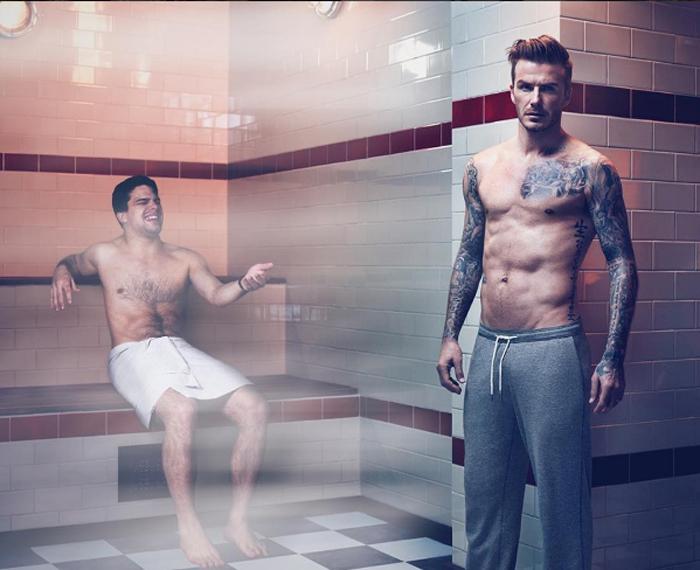 Дэвид, ну кто носит спортивные штаны в сауне? Лос-Анжелес изменил тебя, чувак. Instagram averagerob.
