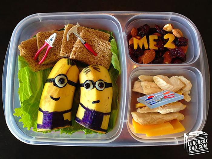 Школьные обеды от любящего отца.