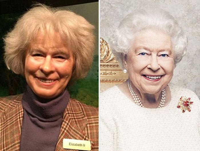 Восковая копия королевы Елизаветы II выглядит, как совершенно другой человек.
