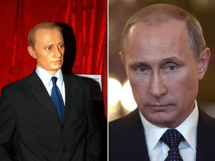 Копия Владимира Владимировича Путина в воске хоть и узнаваема, но однозначно могла бы быть намного лучше.