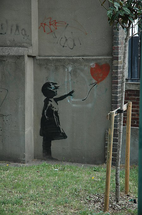 Оригинал изображения на улице Лондона, 2002 год.