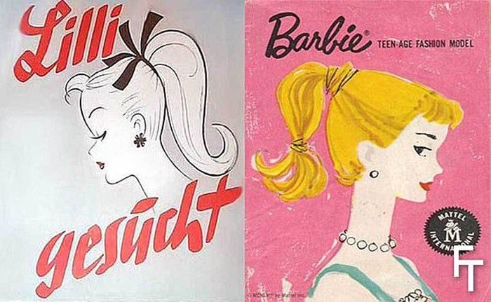 Реклама Лилли и Барби.