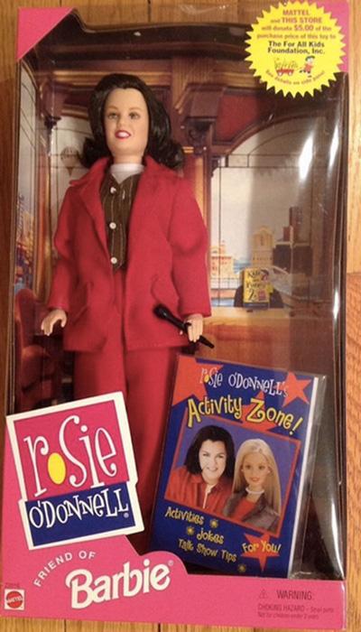 Рози О'Доннелл является популярной певицей и телеведущей. Ее кукла была выпущена в образе  «Рози О'Доннелл шоу».