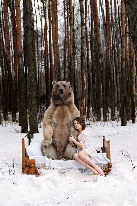 Мартовская фотосессия в снежном лесу. Фото: Ольга Баранцева.