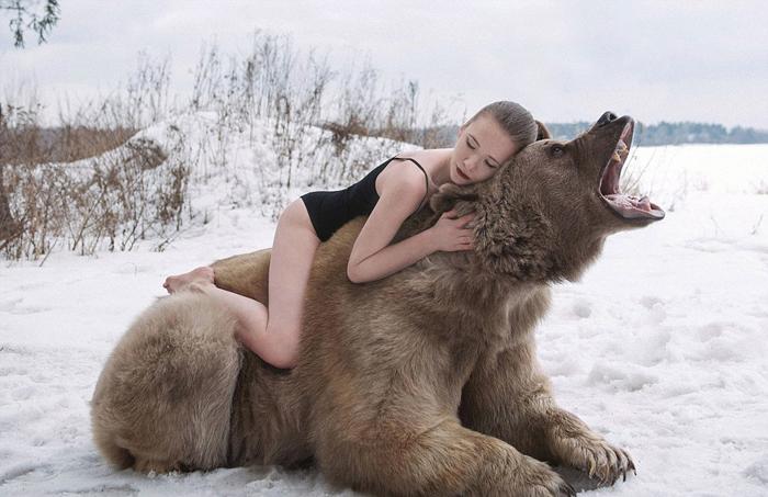 Фотографии с бурым медведем.