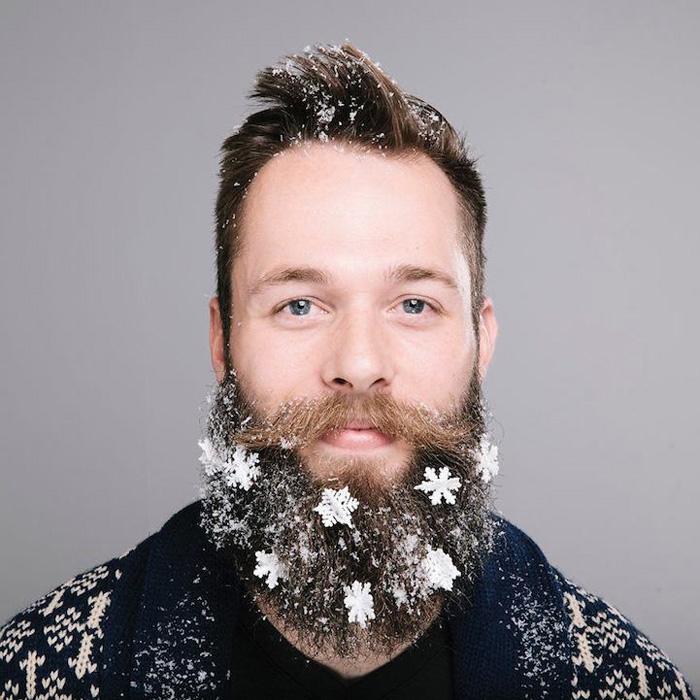 Зимний декор для бороды.