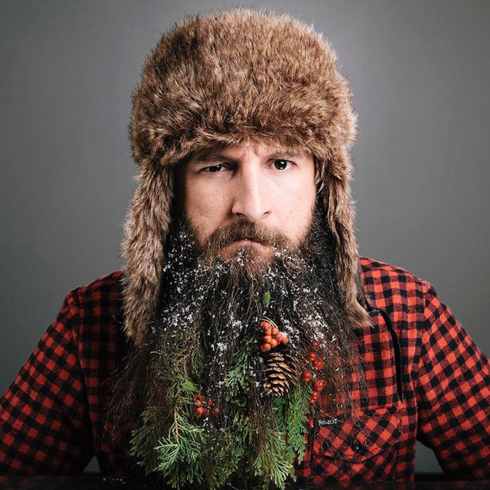 Тhe 12 Beards of Christmas - серия рождественских украшений для бороды.