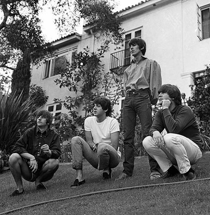 Музыканты The Beatles в Лос Анжелесе. 25 августа 1964г.