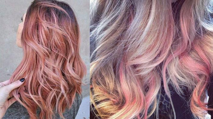 Волосы цветом Rose gold iPhone.