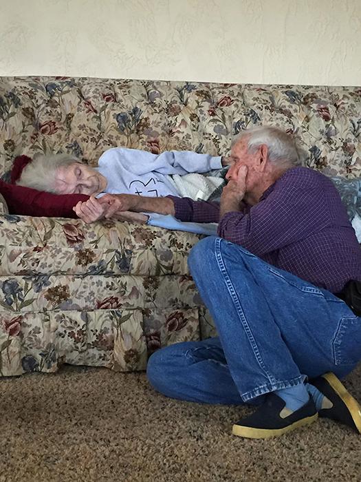 После 69 лет брака.
