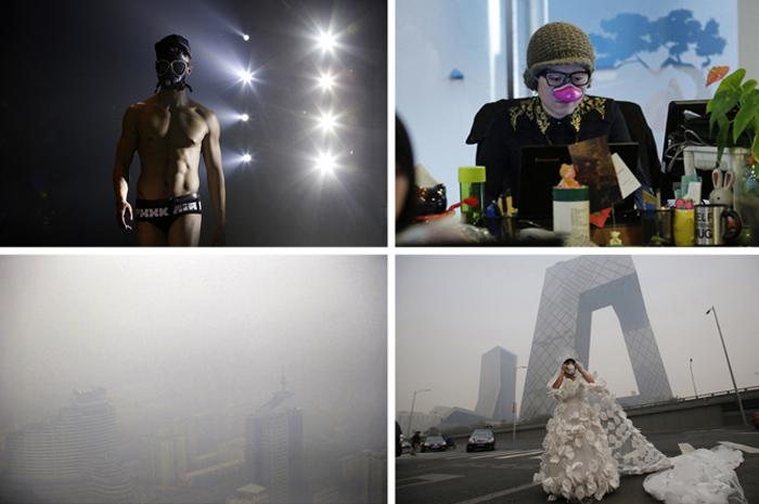 Загрязнение в Пекине.