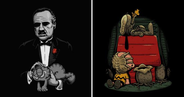 Черный юмор от иллюстратора Бена Чена.