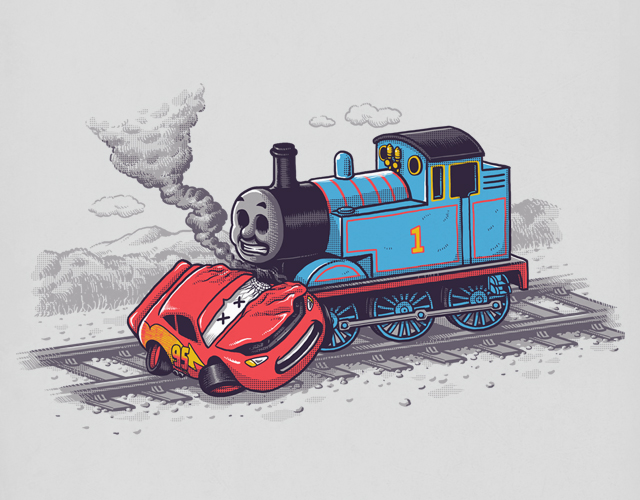 Поезд Чу-чу и Молния Маккуин - выживет только один.