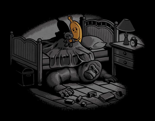 Ночные страхи есть у каждого: иллюстрация Бена Чена.