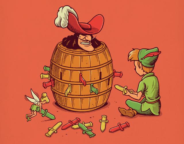 Небезопасная игра феи Динь-Динь и Питера Пена.