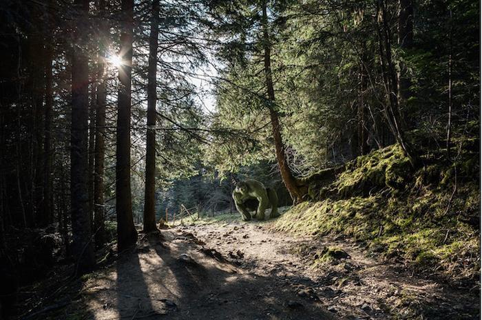 Халк в лесу. Проект Бенуа Лепрея.