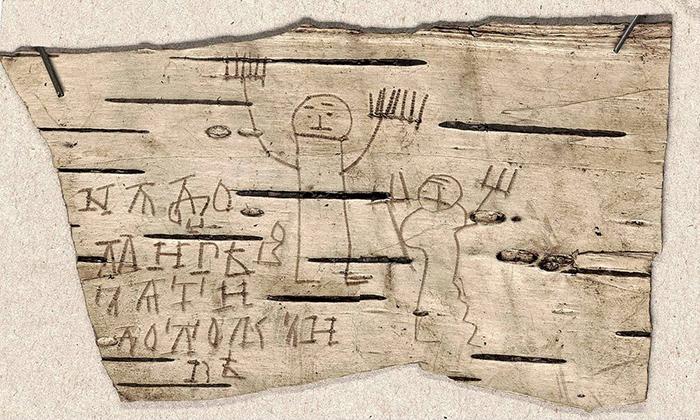 Онфим изобразил маму и папу.