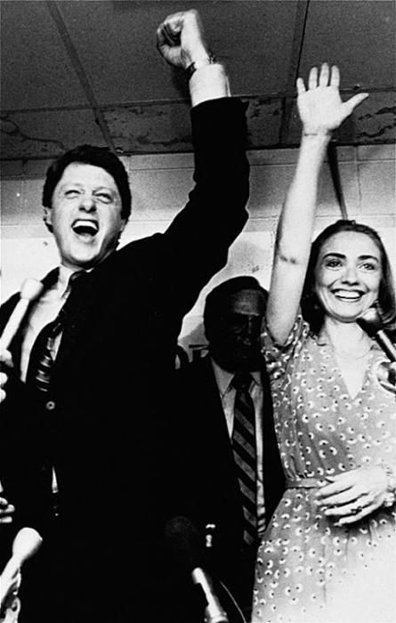 Билл и Хиллари Клинтон, 1982г.