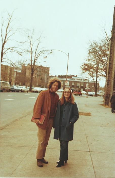Билл Клинтон и Хиллари Родхэм (до свадьбы) в Йелле. Январь 1972г.