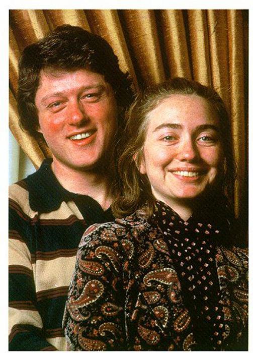 Молодые Билл и Хиллари Клинтон.